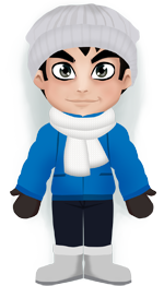 In Krapivniki: Cold, -5°C, overcast, no significant precipitation